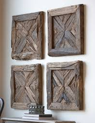 Square Metal Wall Decor Rustic Wood And Metal Wall Art Gucobacom
