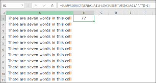 Excel Word How To Count Words In Excel Cell Range Worksheet Specific