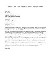 Medical Application Letter Sample Sample Medical Cover Letters Under Fontanacountryinn Com