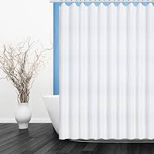 shower curtain fiv lock hole heavy duty bathroom curtain liner mildew resistant washable polyester fabric shower