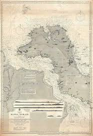 1893 Admiralty Nautical Chart Or Maritime Map Of Bangka