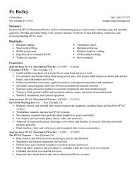 Hvac Cv Sample Project Engineer Resume Format Cover Letter