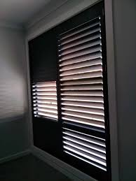 black plantation shutters. Delighful Shutters Black Plantation Shutters Installed In Panorama To Plantation Shutters E