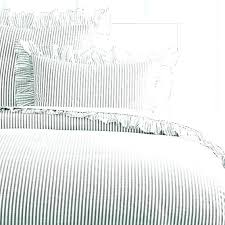 ticking stripe quilt blue and white