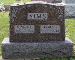 Minnie Lee Depoy Sims (1868-1947) - Find A Grave Memorial