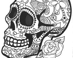 Small Picture 10 Sugar Skull Day of the Dead ColoringPages by OneCuriousHuman