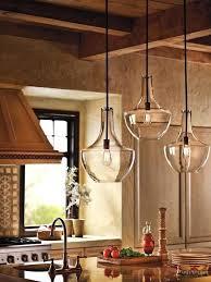 rustic glass pendant lighting. Stunning Rustic Kitchen Featuring Beautiful Clear Glass Pendant Lights Island Lighting Ideas M