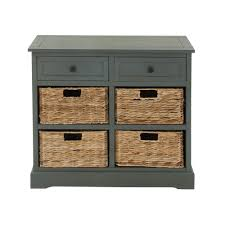 office storage baskets. Blue Gray Wooden Cabinet With Four Wicker Baskets Office Storage