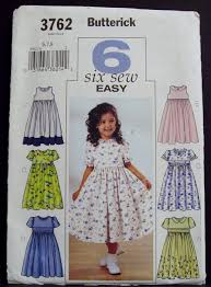 It's Sew Easy Patterns Stunning Butterick 448 Girls Six Sew Easy Dress Pattern 44848 Wedding Party