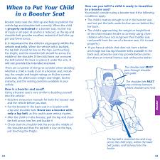 when to put your child in a booster seat evenflo symphony 65 user manual