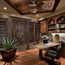 comfy leather office chair office space idea dark brown colored blind windows small potted plant small beautiful rustic home office desks introducing