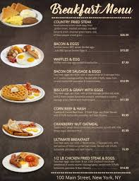breakfast menu template breakfast menu template postermywall