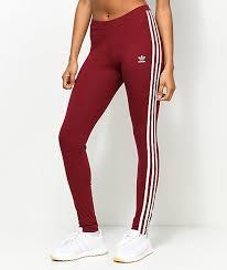 adidas 3 stripe pants. adidas 3 stripe burgundy leggings pants