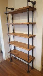 industrial furniture style. Pipe Shelving Unit / Bookcase Industrial Book Case Shelf Wall Furniture Style C