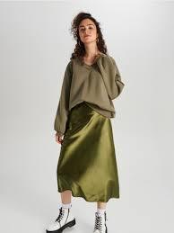 Атласная <b>юбка</b> миди, <b>CROPP</b>
