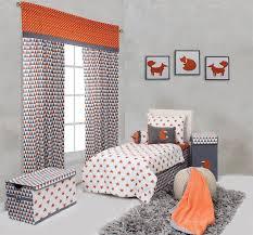 home toddler bedding girls toddler bedding bacati playful fox orange grey 4 pc toddler bedding set