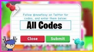 Adopt me codes can give free bucks and more. Illekonysag Kemeny Gyuru Bemutato Roblox Adopt Me Codes 2019 Wiki Acupofteaandabook Com