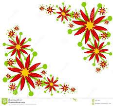 Poinsettia Designs Poinsettia Corner Designs Stock Illustration Illustration