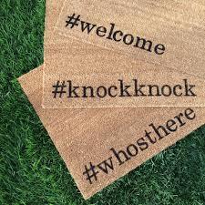 knockknock Hand painted, customizable, funny doormat.