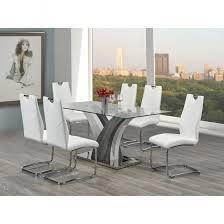 jerome glass dining table set craftmansfurnitureca furniture