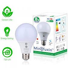 mifxion sensor light bulb 360 degree dusk to dawn a19 8w e27 bulb lamp for