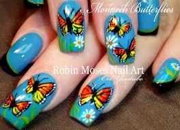 Robin Moses Nail Art: Spring Butterfly Nail Art Design Tutorial ...