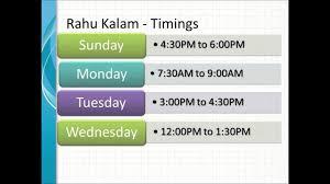 Om Series Daily Rahu Kalam Timings