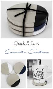 make your own chic concrete coasters in less than an hour this quick tutorial will
