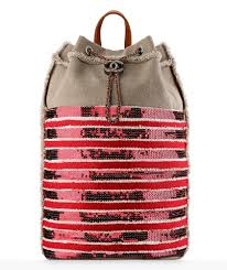 chanel inspired bags. chanel canvas and sequin backpack inspired bags