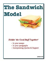 sandwich model essay writing review of structure support tpt sandwich model essay writing review of structure support