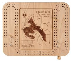 Buy Lake Chelan In Chelan Wa Cribbage Board 9 X 12 In
