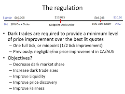 Level 2 Stock Quotes Interesting Regulation Of Dark Trading A Tale Of Intended And Unintended