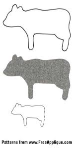 Barnyard Animal Patterns - FreeApplique.com & Cow Pattern Adamdwight.com