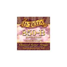 La Bella String Tension Chart La Bella 850b Elite Black Nylon Golden Alloy Classical Guitar Strings Medium Tension