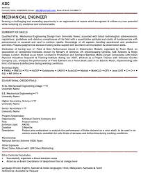 Mechanical Engineer Resume Example Examples Of Resumes