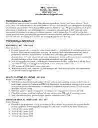 Professional Summary And Senior Account Executive Health Care