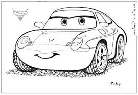 Sally Cars Coloriage