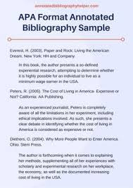 apa bibliography format example english 1101 annotated bibliography assignment school pinterest