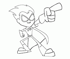 Small Picture Kids Coloring Pages 6 Teen Titans Go Robin Coloring Pages