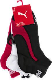 <b>Носки</b> Puma <b>Lifestyle Quarters 3P</b>, цвет: черный, белый, красный ...