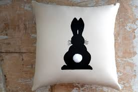 Rabbit Decorative Accessories Easter Pillow Bunny Rabbit Easter Decor Home Decor Cottage 11