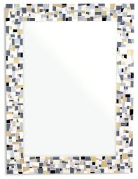 stained glass mosaic mirror 34 x24 horizontal