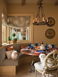 french country dining room furniture. Dining Room : An Amazing Round French Country Furniture In A With Candle Chandelier, Flower Paintings, Plants, Long Gray U Shaped Couches N