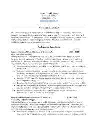 Sample Resume Warehouse Manager Resume Online Builder