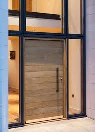 Aluminium Frame Wooden Door, Maar Dan Met Verticale Indeling   Doorways And  Windows   Doors, Contemporary Front Doors, Entry Doors