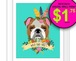 French Feathers Home Decor And Accessories Feather Print Dog Etsy 96