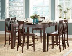 Pub Height Kitchen Table Sets Warm Cherry Finish Modern Counter Height Dining Table W Options