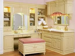 bathroom charming bathroom vanity with makeup table l shape light brown polished teak wood vanity charming makeup table mirror lights