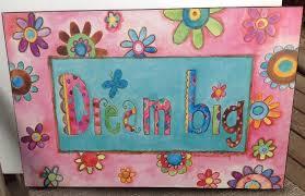 wood box sign wall art plaque home decor dream big multi color 18 x12 x1 5 8