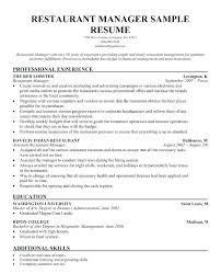 Bartending Resume Objective Letter Resume Source